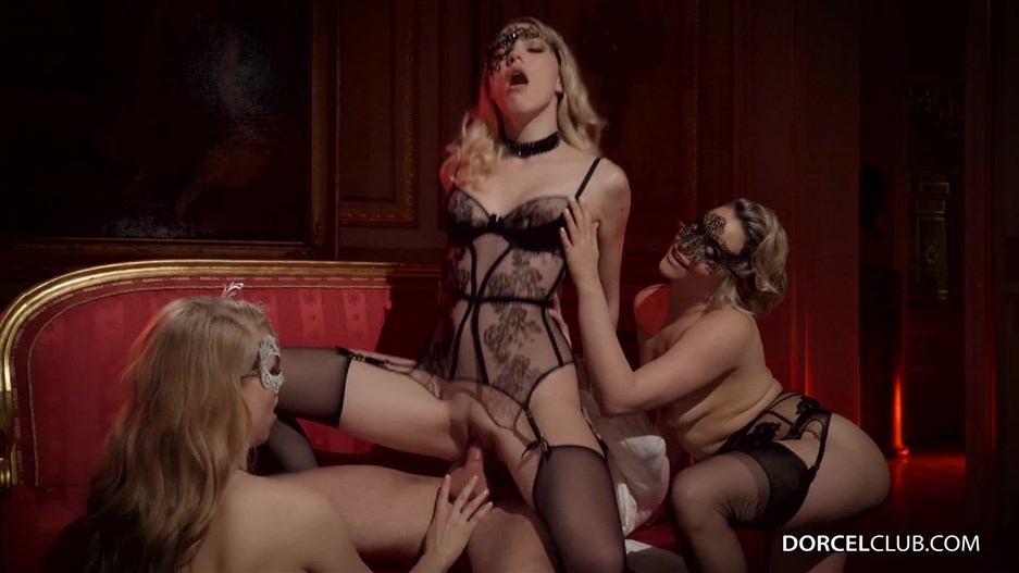 DorcelClub presents Mia Malkova, Lucy Heart, Anny Aurora in Foursome for a couple