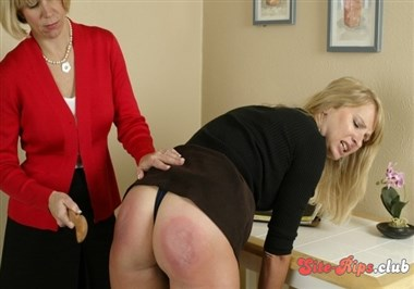 Stacey Spanked With Wooden Spoon & Paddle