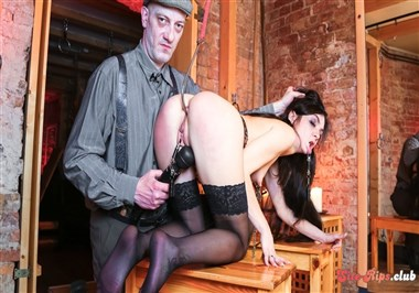 Hot babe Lullu Gun gets dominated and tortured in the German dungeon PT 1
