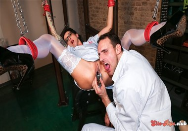 Piss play and BDSM action with German slave Stella Star and doctors PT 1