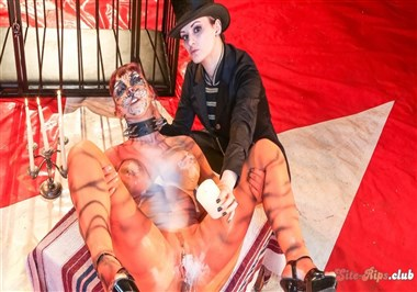 Hot German babe Leah Obscure in bizzare BDSM with mistress Alissa Noir