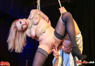 Intense bondage and domination with obedient German slave Mary O. PT 1